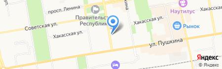 Управление МВД России по г. Абакану на карте Абакана