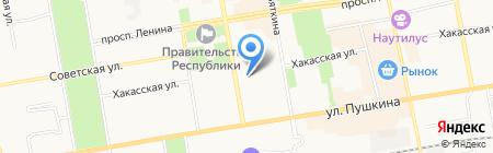 Территориальная избирательная комиссия г. Абакана на карте Абакана