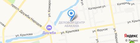 Адвокатская контора Ермака И.И. на карте Абакана