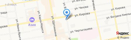 БХ-Лизинг на карте Абакана