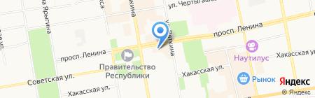 Аврора принт на карте Абакана