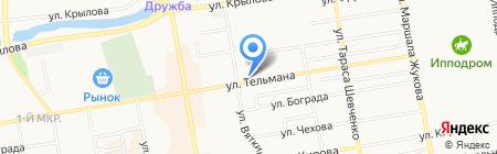 Сибирский кедр на карте Абакана
