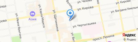 Сибирь-Транзит на карте Абакана