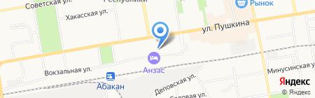 Парикмахерская на Вокзальной на карте Абакана