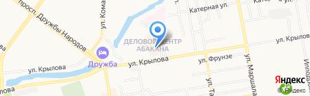 Московский ювелирный завод на карте Абакана