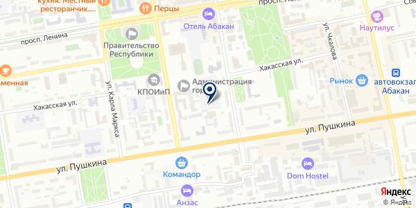 AutoLine на карте Абакане