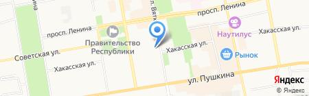 Детская художественная школа им. Д.И. Каратанова на карте Абакана