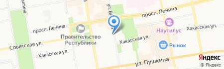 Анита на карте Абакана