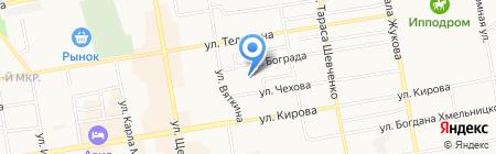Аверс на карте Абакана