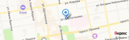 Линия офиса на карте Абакана