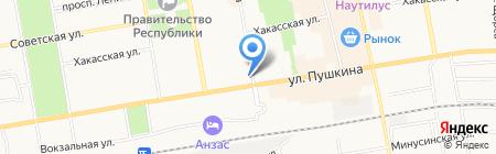 Юничел на карте Абакана