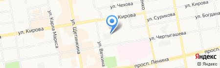 Автостраж на карте Абакана
