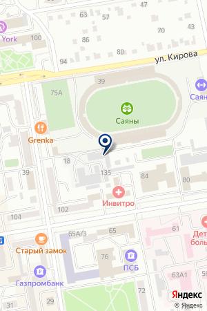 Южно Сибирский Мотоцентр на карте Абакана