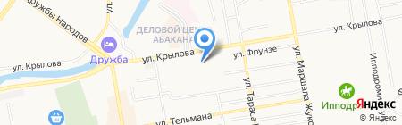 Хакасская национальная гимназия-интернат им. Н.Ф. Катанова на карте Абакана