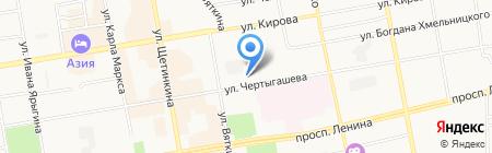 Российский независимый профсоюз работников угольной промышленности на карте Абакана