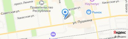 Абаканский на карте Абакана