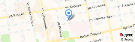 Город знаний на карте Абакана