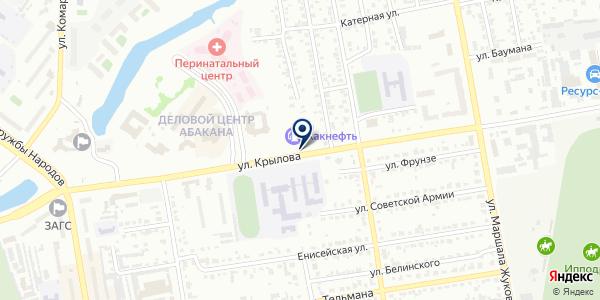 АЗС на карте Абакане