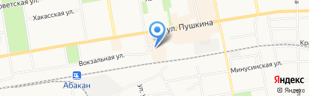 Народный на карте Абакана