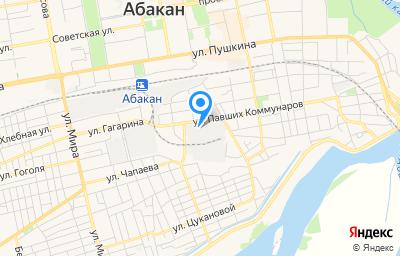 Местоположение на карте пункта техосмотра по адресу г Абакан, ул Павших Коммунаров, д 131