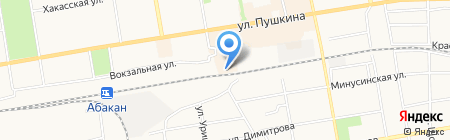 Контакт на карте Абакана
