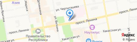 СКБ-банк на карте Абакана
