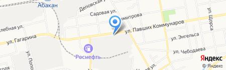 СТО на ул. Павших Коммунаров на карте Абакана