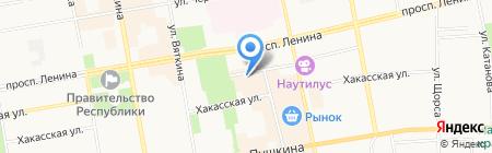 Русский Сапожок Элегант на карте Абакана