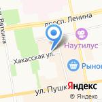Отдел вневедомственной охраны МВД по Республике Хакасия на карте Абакана