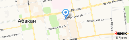 Фотостудия на ул. Чкалова на карте Абакана