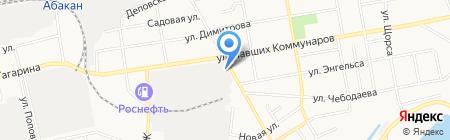 Винтик Шпунтик на карте Абакана