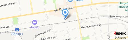 Пилон на карте Абакана