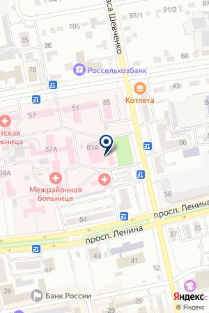 Станция скорой медицинской помощи г. Абакана на карте Абакана