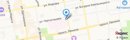 Абакан на карте Абакана