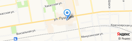 Банкомат Восточно-Сибирский банк Сбербанка России на карте Абакана