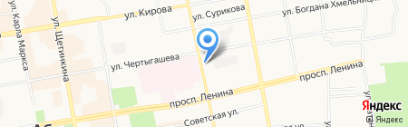 Магазин продуктов на ул. Тараса Шевченко на карте Абакана