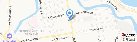 Учебно-Курсовой комбинат на карте Абакана