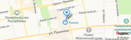 Александр на карте Абакана