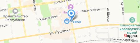 Пайзан на карте Абакана