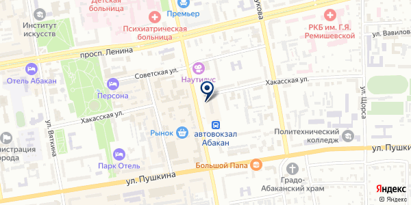 Участковый пункт полиции №8 на карте Абакане