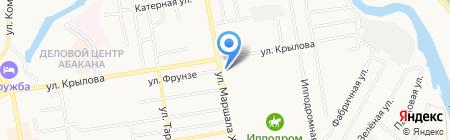 Холосо на карте Абакана
