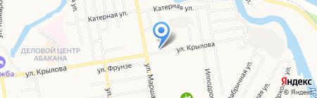 Магазин продуктов на ул. Крылова на карте Абакана