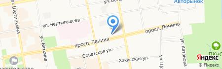 Терминал на карте Абакана