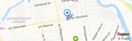 Самара на карте Абакана