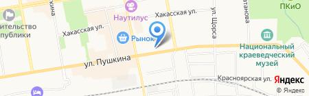 Межрегиональное Управление государственного автодорожного надзора по Красноярскому краю на карте Абакана
