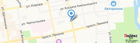 Шалгиновский на карте Абакана
