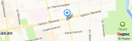 Ортопедия Плюс на карте Абакана