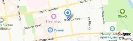 Хакасская на карте Абакана
