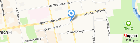 Отдел Военного комиссариата Республики Хакасия по г. Абакан на карте Абакана