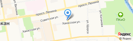 Алекса на карте Абакана
